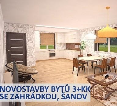 Novostavby bytů 3+kk se zahrádkou, Šanov