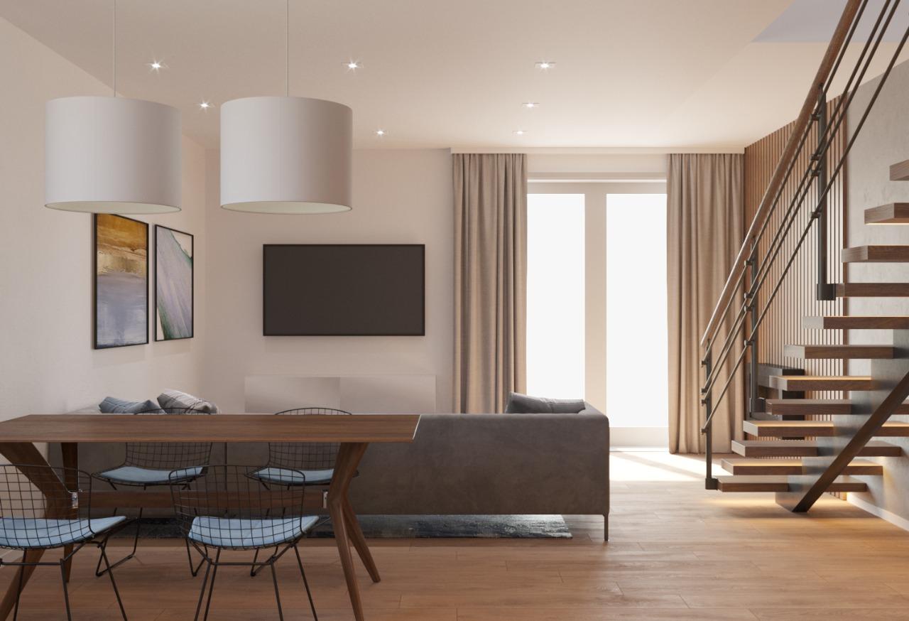 Velkometrážní byt 4+kk se zahradou a parkovacím stáním v obci Šanov, CP 244 m² (8.1)