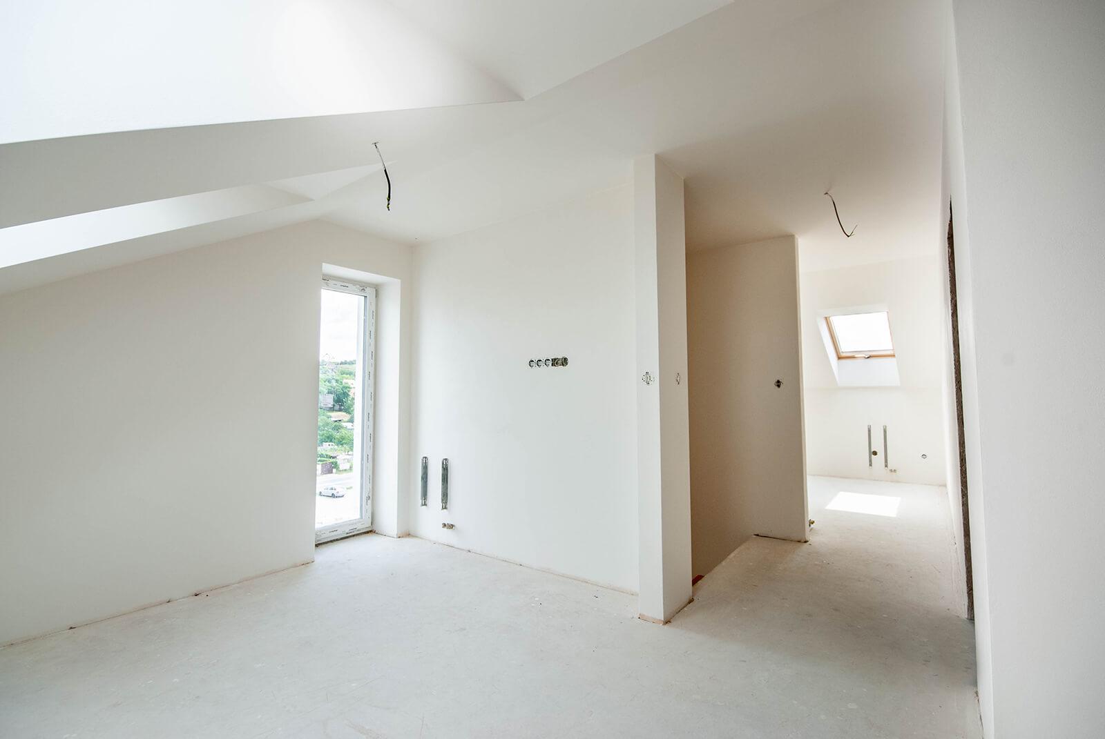 Novostavba mezonetového bytu č. 12 o velikosti 1+1 s úložným prostorem, Hustopeče