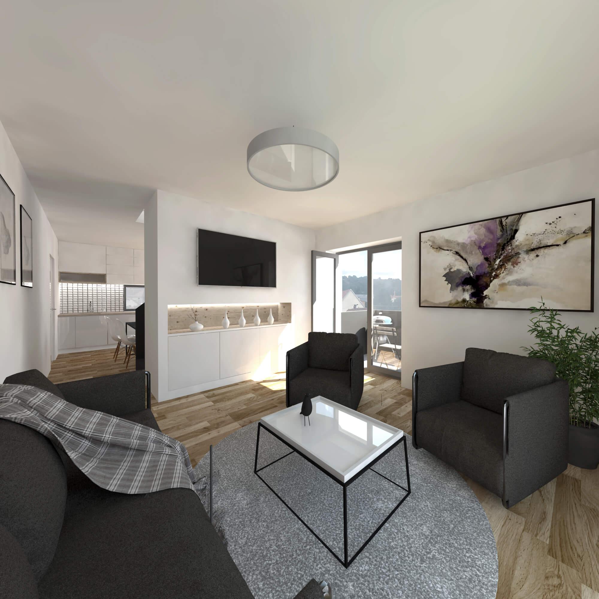 Novostavba mezonetového bytu č. 12 o velikosti 3+1, cp: 86 m², Hustopeče